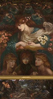 <i>The Blessed Damozel</i> poem and painting by Dante Gabriel Rossetti