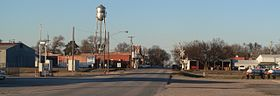 Davenport, Nebraska - Maple Ave from S 1.JPG