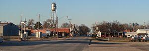 Davenport, Nebraska - Davenport, seen from the south along Maple Avenue