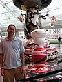 David Berkowitz Standing by Murakami at the Brooklyn Museum (2625073665).jpg
