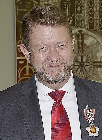 David Cunliffe - Cunliffe, after his investiture as a Companion of the Queen's Service Order, 1 May 2018