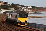 Dawlish - fGWR 150101 Paignton train.JPG