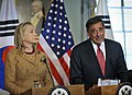 Defense.gov News Photo 120614-D-NI589-919 - Secretary of Defense Leon E. Panetta answers a reporter s questions during a joint press conference with Secretary of State Hillary R. Clinton their.jpg
