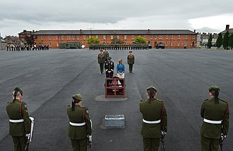 Defence Forces (Ireland) - Ceremony at Cathal Brugha Barracks in Dublin