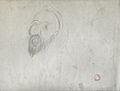 Dehodencq A. - Pencil - Esquisse de tête d'un oriental - 20x26cm.jpg