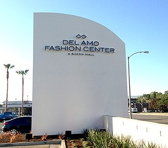 Del Amo Fashion Center - An updated Del Amo Fashion Center sign