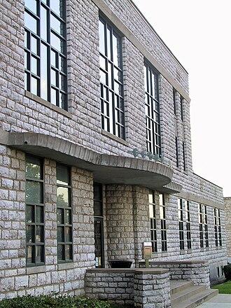Delaware County, Oklahoma - Image: Delaware courthouse facade
