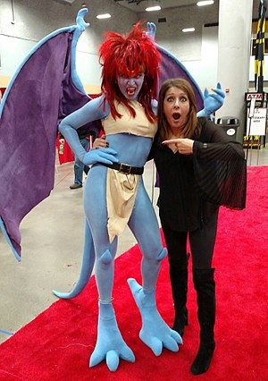 Gargoyles (TV series) - Image: Demona voice actress Marina Sirtis with cosplayer Ezmeralda Von Katz