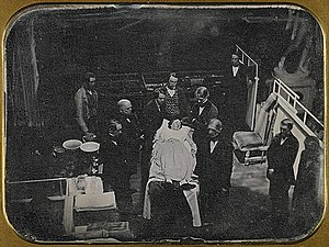 Josiah Johnson Hawes - Image: Demonstration surgical use of ether 1847 daguerreotype