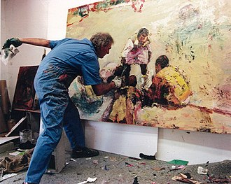 Dennis Hare - Dennis Hare at work in his studio