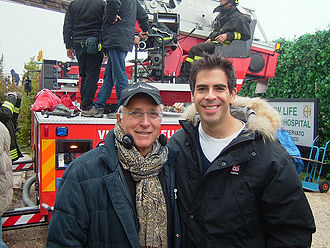 Eli Roth - Eli Roth with Ruggero Deodato on the set of Hostel: Part II. (2007).