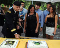 Deputy Commanding General, U.S. Army Reserve Command, Maj. Gen. Jon J. Miller slices cake with family during his retirement ceremony held at Arizona State University Campus in Tempe, Ariz 121006-A-ZZ999-005.jpg