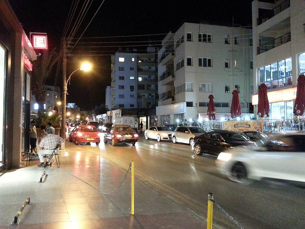 Dereboyu at night North Nicosia 2