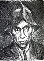 Derkovits Derkovits Self-Portrait with a Hat 1920.jpg