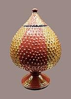 Deruta Jar in the shape of a pinecone.jpg