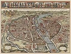 Derveaux & Tavernier, Le plan de la ville, cité, université fauxbourg de Paris - Paris Musées.jpg
