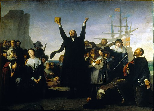 Desembarco de los puritanos en América (Antonio Gisbert)