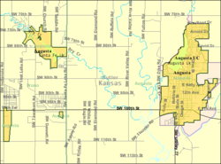 Detailed map of Augusta, Kansas