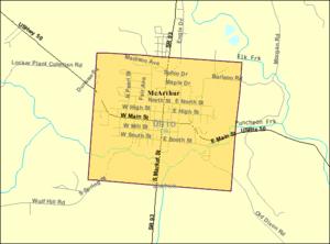 McArthur, Ohio - Image: Detailed map of Mc Arthur in Ohio