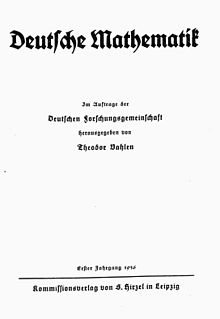 <i>Deutsche Mathematik</i> Academic journal