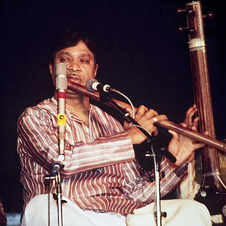 The Inner Light (song) - Hariprasad Chaurasia, shown playing the North Indian bamboo flute, known as the bansuri