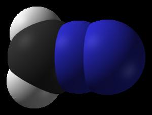 Diazomethane - Image: Diazomethane from CRC MW IR 3D vd W