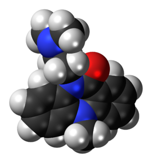 Dibenzepin - Image: Dibenzepin 3D spacefill