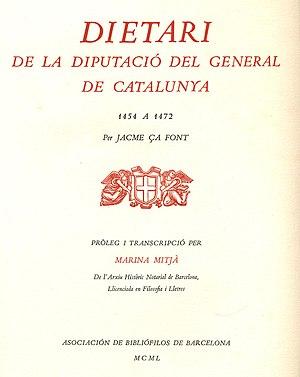 Jaume Safont - Image: Dietaridela Diputaciódel Generalde Catalunya 1454a 1472(1950)