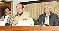 Dinesh Trivedi addressing after receiving the report of the Expert Group on Modernization of Indian Railways from the Member, Expert Group on Modernization of Indian Railways, Shri M.S. Verma.jpg