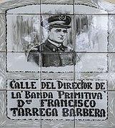 Director Francisco Tàrrega. Ceràmica (Rajola de València). Espai públic d'Alaquàs (País Valencià).jpg