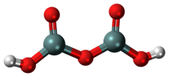 Ball-and-stick model of the disilicic acid molecule