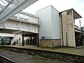 Disused lift shaft and platform - Halifax station - geograph.org.uk - 1607395.jpg