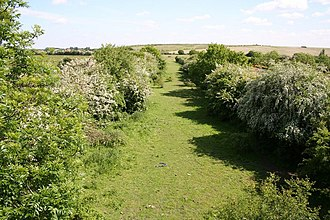Bullcroft Colliery - Trackbed of the former Bullcroft Colliery branch line near Toll Bar