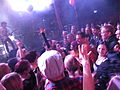 Diving right in - Amanda Palmer, already in the crowd during the first song of her set. Gloria, Cologne, 2013-11-01.jpg