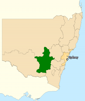 Division of Riverina - Division of Riverina in New South Wales, as of the 2016 federal election.