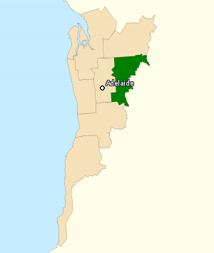 Division of Sturt - Division of Sturt in South Australia, as of the 2016 federal election.