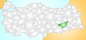 Diyarbakır Turkey Provinces locator