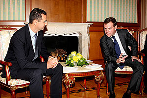 SOCHI. With President of Syria Bashar al-Assad.