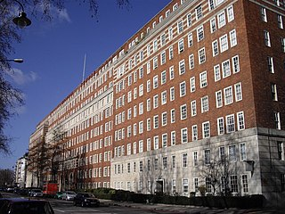 block of private apartments and business complex in Pimlico, London