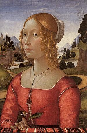 Partlet - Image: Domenico Ghirlandaio Portrait of a Lady Larger