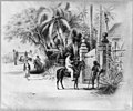 Dominican Republic, 1871)- Entrance to Dameon Baez's residence, one half mile to the west of the limits of Santo Domingo City on the Haina Road LCCN2003655460.jpg