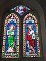 Dommery (Ardennes) église, vitraux Ste Madeleine, St Thomas, St Pierre.JPG