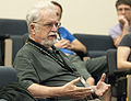Donald Albury asking question at student panel at Wikipedia in Higher Education Summit.jpg