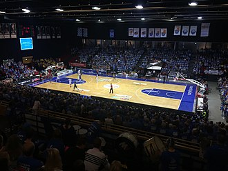 A Donar basketball game in MartiniPlaza Donar - Landstede Basketbal (2016).jpg