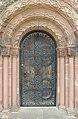 Door of St George's Church, Thornton Hough.jpg
