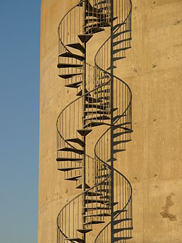 Double helix stairs