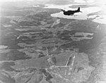 Douglas SBD-5 Dauntless over Hollandia airfield on 21 April 1944.jpg