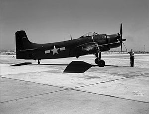 Douglas A-1 Skyraider - A Douglas XBT2D-1 Skyraider prototype.