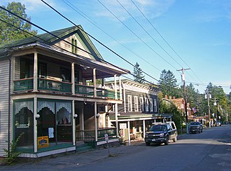 Pine Hill, New York - Main Street in Pine Hill