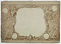 "Drawing, Design for an Ornamental Border Used for the Surround to the General Chart in John Pine's ""Tapestry Hangings in the House of Lords"", ca. 1739 (CH 18603337).jpg"